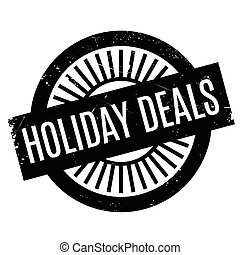 Holiday Deals rubber stamp
