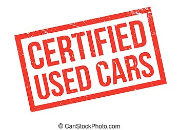 Certified Used Cars rubber stamp. Grunge design with dust...