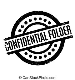 Confidential Folder rubber stamp. Grunge design with dust...