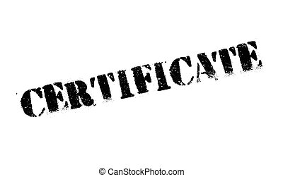 Certificate rubber stamp. Grunge design with dust scratches....