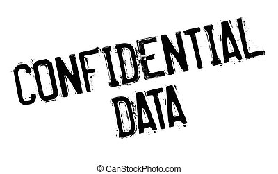 Confidential Data rubber stamp. Grunge design with dust...