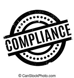 Compliance rubber stamp. Grunge design with dust scratches....