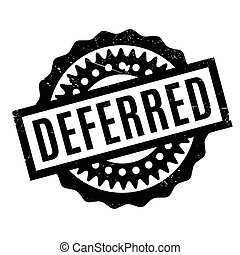 Deferred rubber stamp. Grunge design with dust scratches....