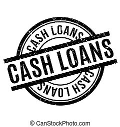 Cash Loans rubber stamp. Grunge design with dust scratches....