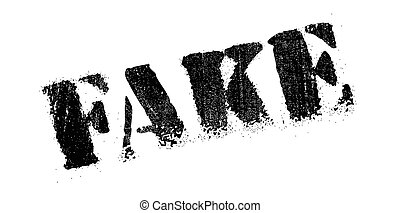 Fake rubber stamp - Fake scratches. Effects can be easily...