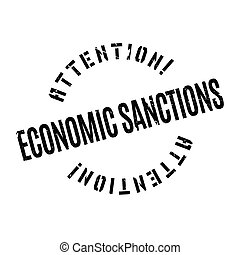 Economic Sanctions rubber stamp. Grunge design with dust...