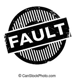Fault rubber stamp. Grunge design with dust scratches....