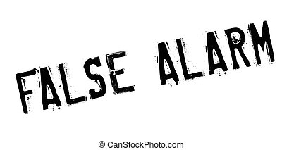 False Alarm rubber stamp. Grunge design with dust scratches....
