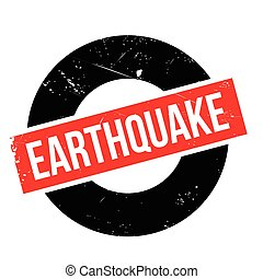 Earthquake rubber stamp. Grunge design with dust scratches....