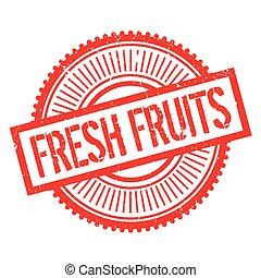 Fresh fruits stamp. Grunge design with dust scratches....