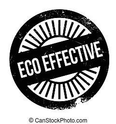 Eco effective stamp. Grunge design with dust scratches....
