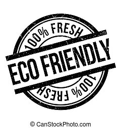 Eco friendly stamp. Grunge design with dust scratches....