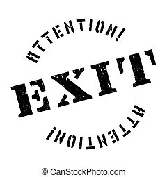 Exit rubber stamp. Grunge design with dust scratches....