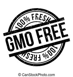 Gmo free stamp. Grunge design with dust scratches. Effects...