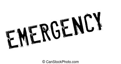 Emergency rubber stamp. Grunge design with dust scratches....