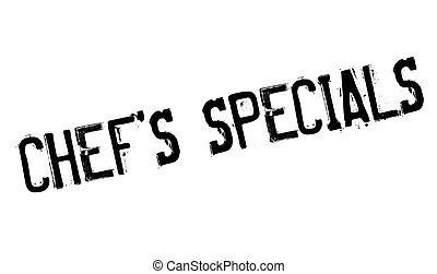 Chef specials stamp. Grunge design with dust scratches....