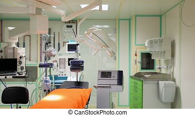 modern new medical office with various electronic equipment...