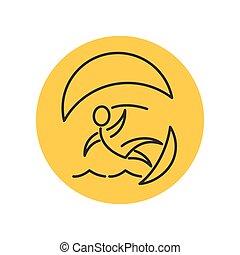 Kitesurfer pictogram