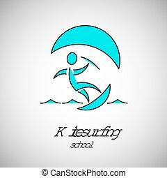 Kitesurfer school logo