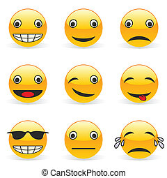 emoticons - fully editable vector illustration emoticons