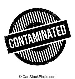 Contaminated rubber stamp. Grunge design with dust...