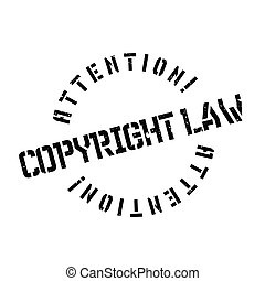 Copyright Law rubber stamp. Grunge design with dust...