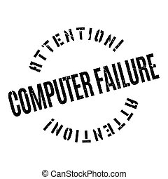 Computer Failure rubber stamp