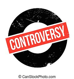 Controversy rubber stamp. Grunge design with dust scratches....