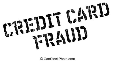 Credit Card Fraud rubber stamp