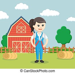 farmer woman holding pruning scissors