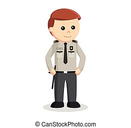 security officer standing pose