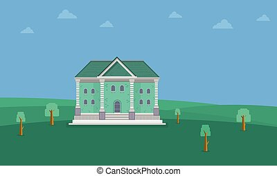 Collection stock of house landscape