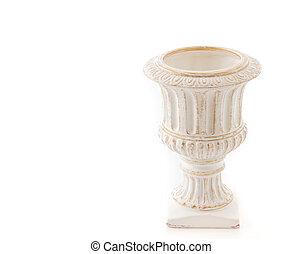 flower pot on white background
