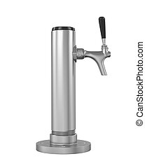 Draught Beer Tap isolated on white background. 3D render