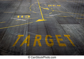 airport runway texture background. - The target words on the...