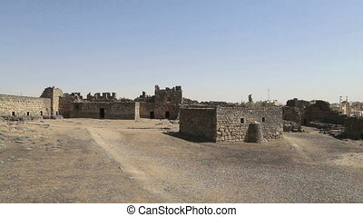 Ruins of Azraq Castle, central-eastern Jordan, 100 km east...