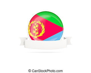 Flag of eritrea with banner - Flag of eritrea with empty...