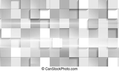 Abstract grey tech geometric squares video clip - Abstract...