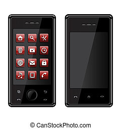 Isolated image of a cellular phones