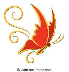 Logo red butterfly.