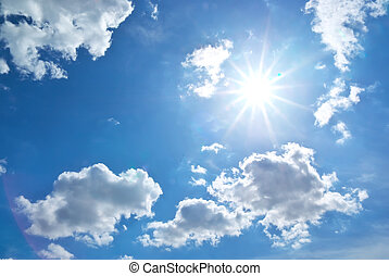 Sun behind the cloud. Nature composition.