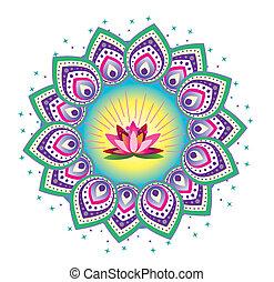 Lotus flower pattern mandala
