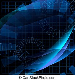 Abstract conceptual business virtual background vector...