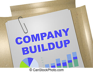 Company Buildup - business concept - 3D illustration of...