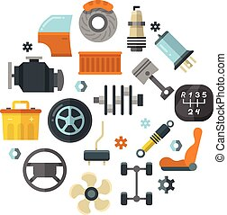 Auto spare parts, car repair service, vehicle technology...