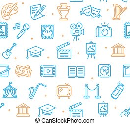 Culture and Creative Fine Art Background Pattern. Vector -...