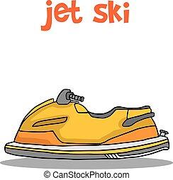 Illustration of jet ski cartoon collection stock