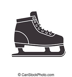 Ice Skating Shoes - Figure ice skating shoes outline icon...