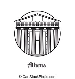 Travel Athens Icon