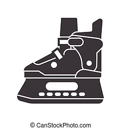 Ice Skating Shoes - Ice skating shoes outline icon isolated...